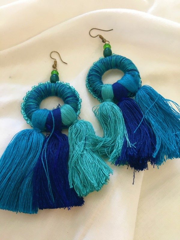 Brincos Caça-Sonhos Azul
